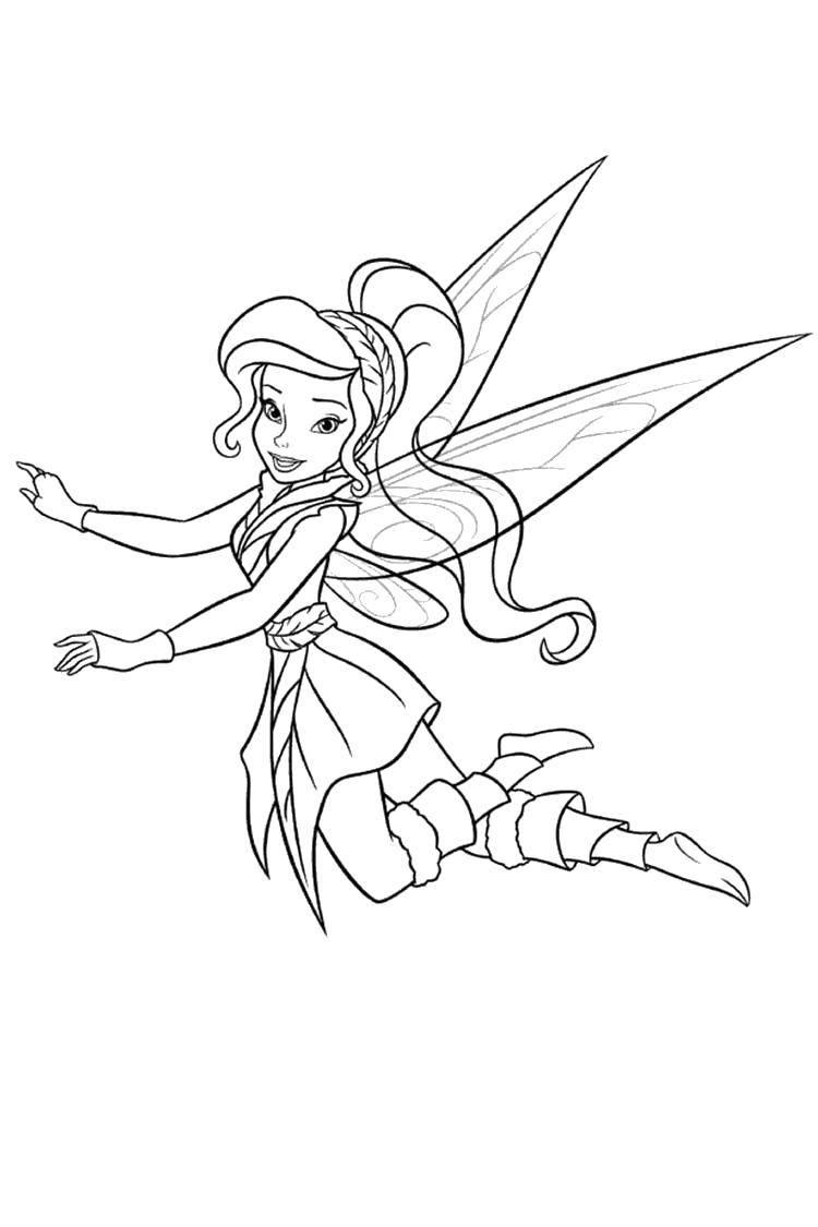 Coloring pages fairies secret of the winter forest Скачать .  Распечатать