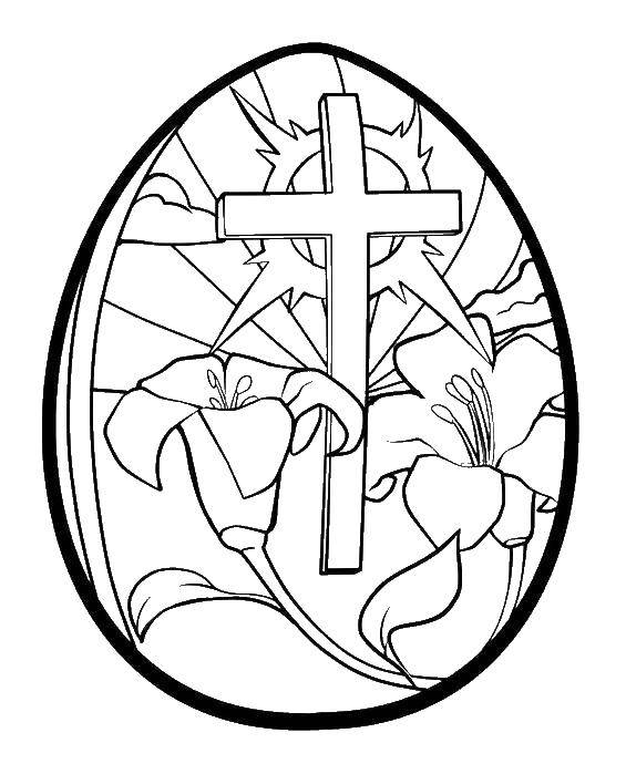 Coloring sheet Easter eggs Download Bathroom with shower,.  Print