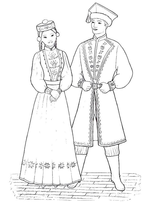 Coloring sheet the peoples of the world Download star.  Print ,moon,