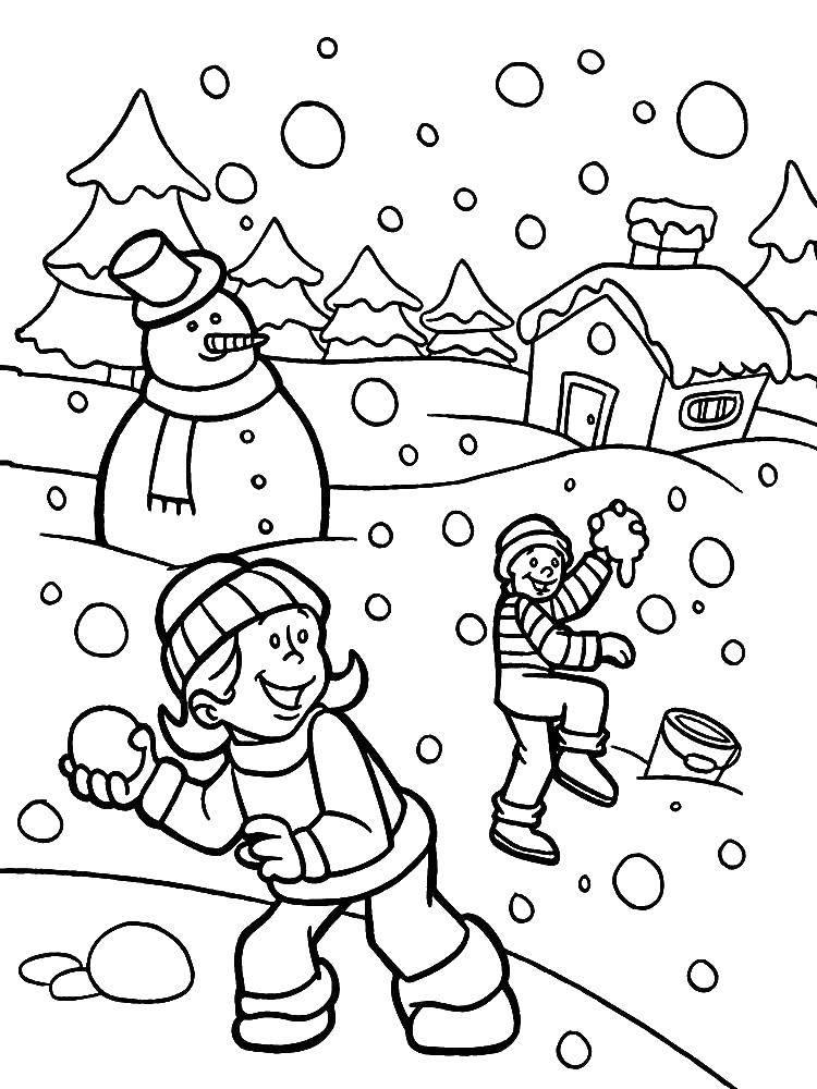 Coloring sheet winter Download .  Print
