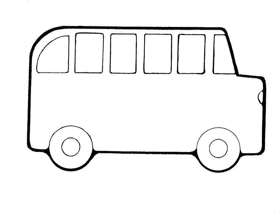 картинка автобус для раскрашивания овощи