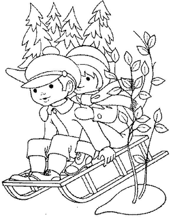 Coloring sheet coloring pages winter Download .  Print