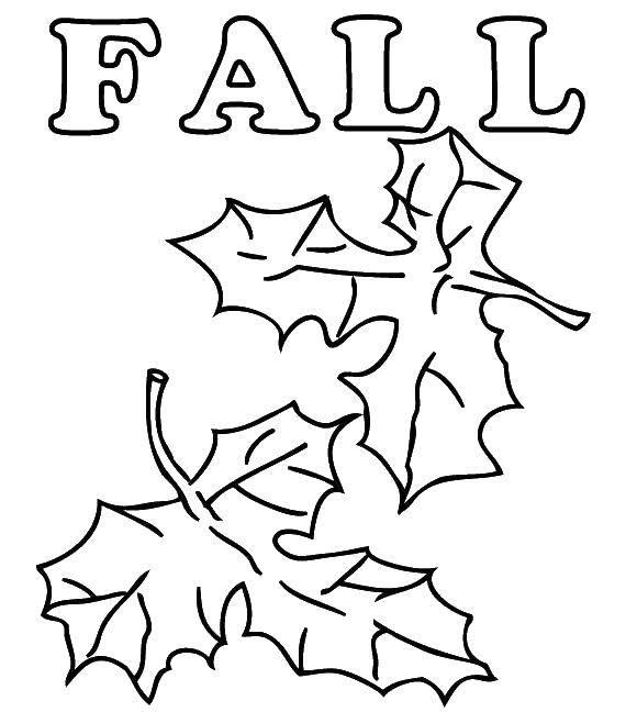 Раскраски дети, Раскраска Дети играют в осенних листьях Осень.