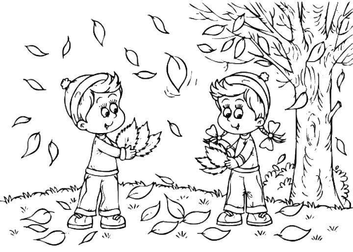 Раскраски осень, Раскраска Осенние дары Осень.