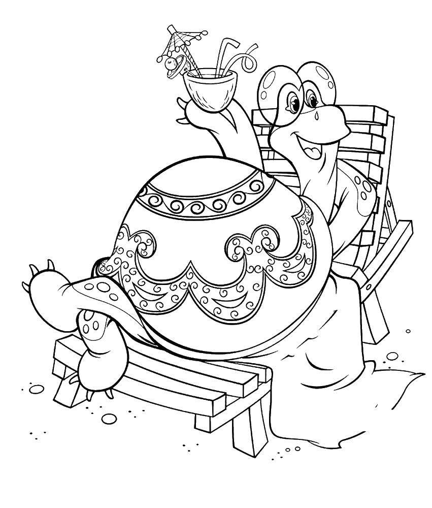 Раскраски черепах, Раскраска Плавание черепах Морская ...