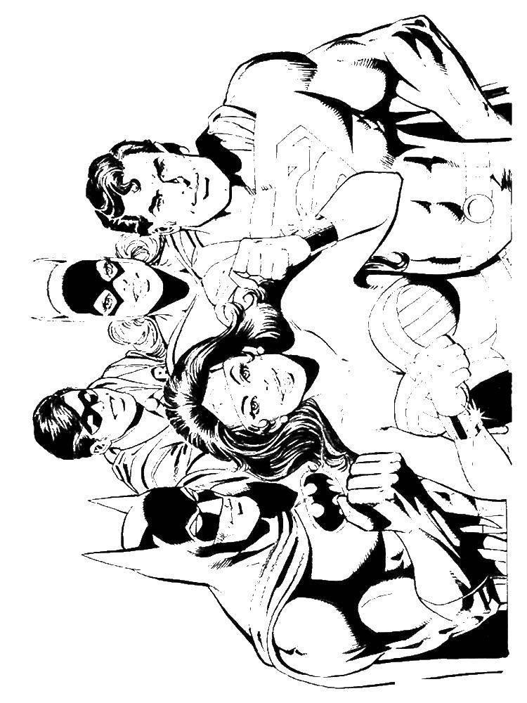 Раскраски капитан, Раскраска Капитан америка супергерои.