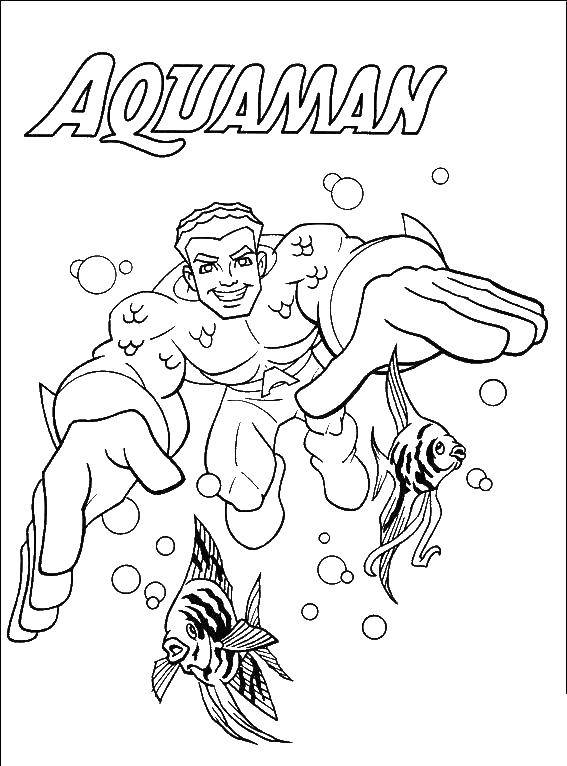 Раскраски супергерой, Раскраска Женщина супергерой супергерои.