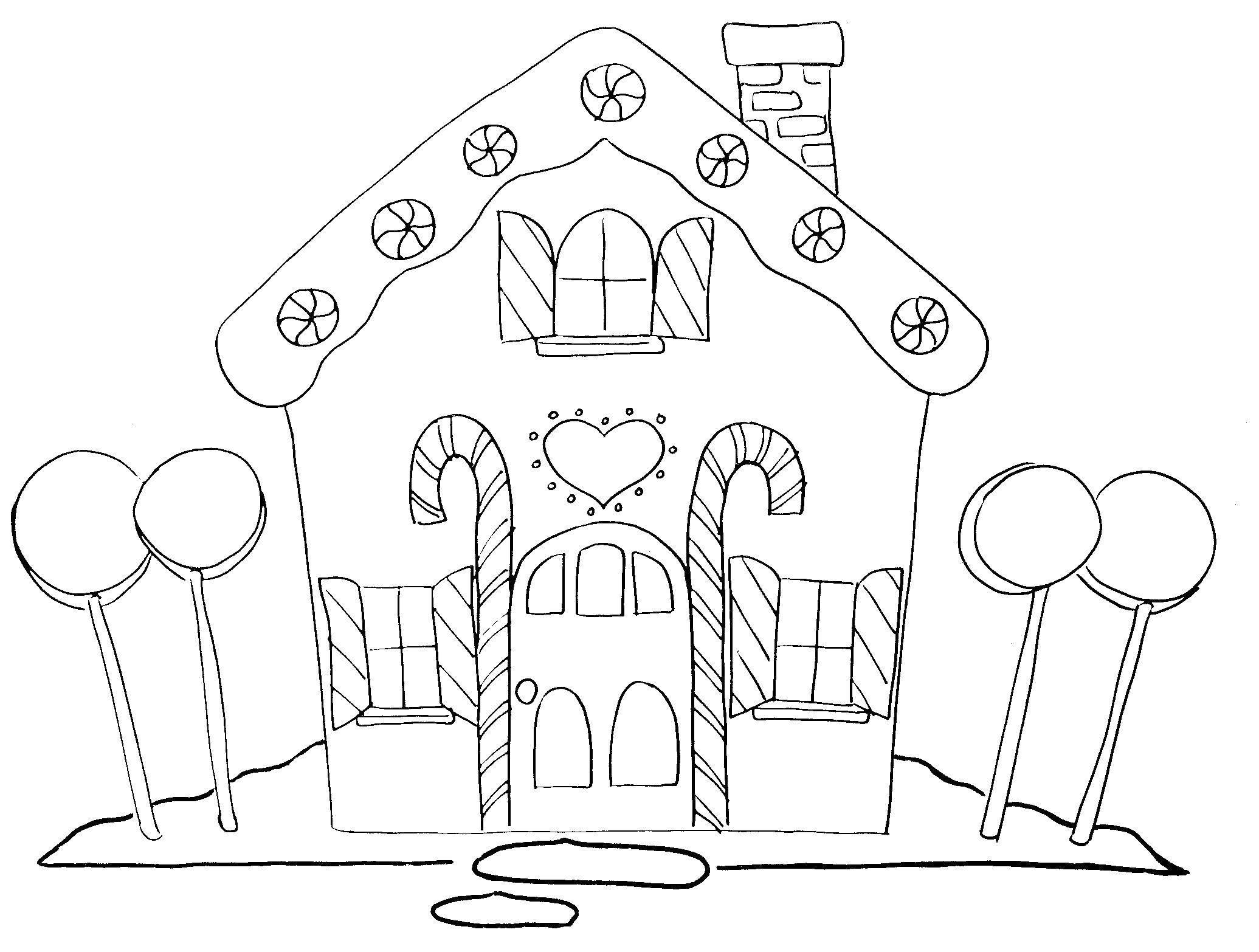 Рисунок сказочного домика для детей карандашом