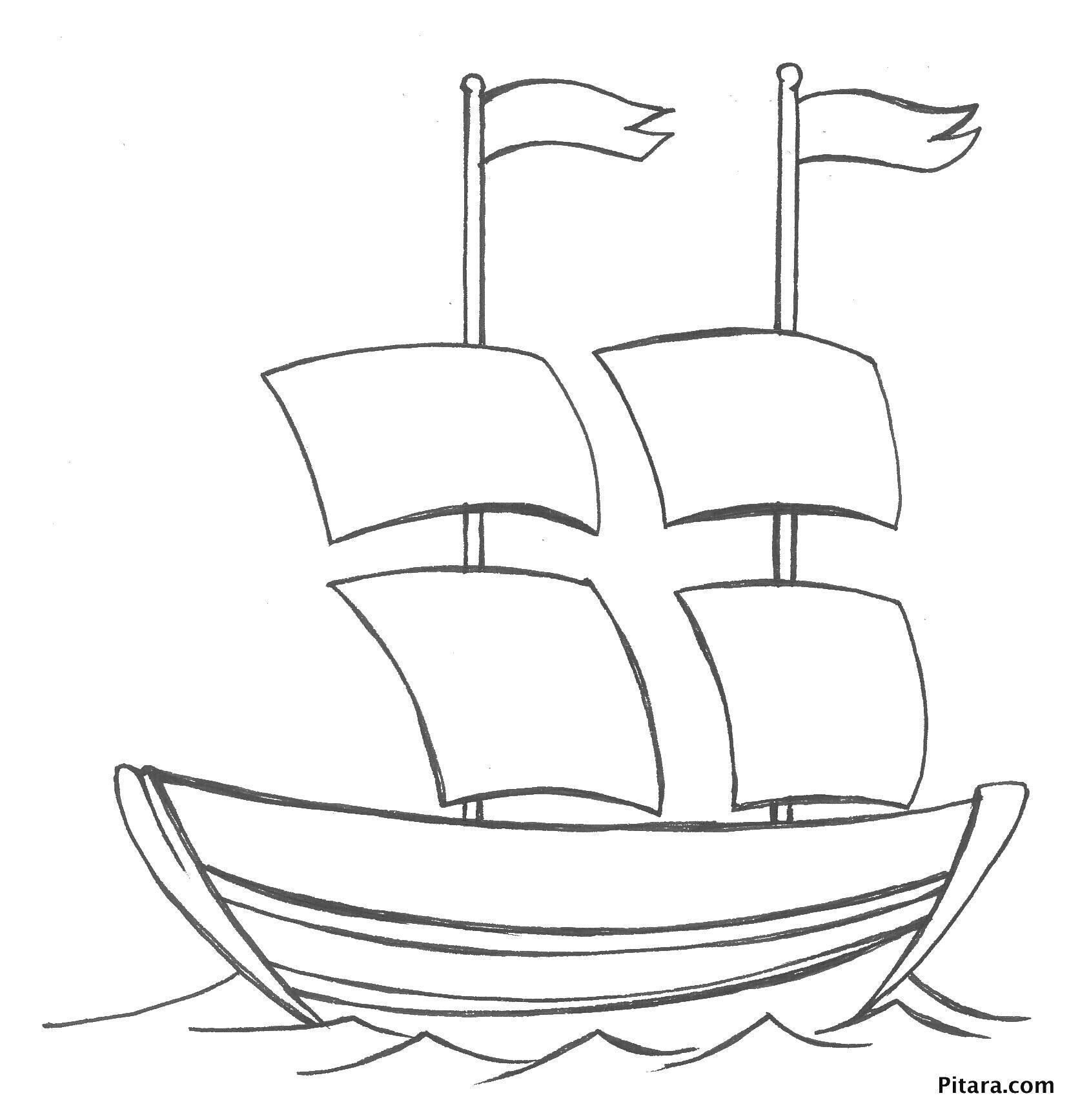 картинки и разукрашки кораблики инфраструктура