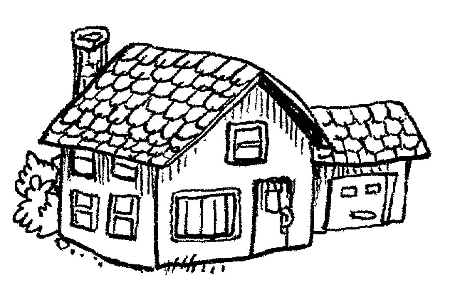 Coloring sheet Coloring pages house Download .  Print