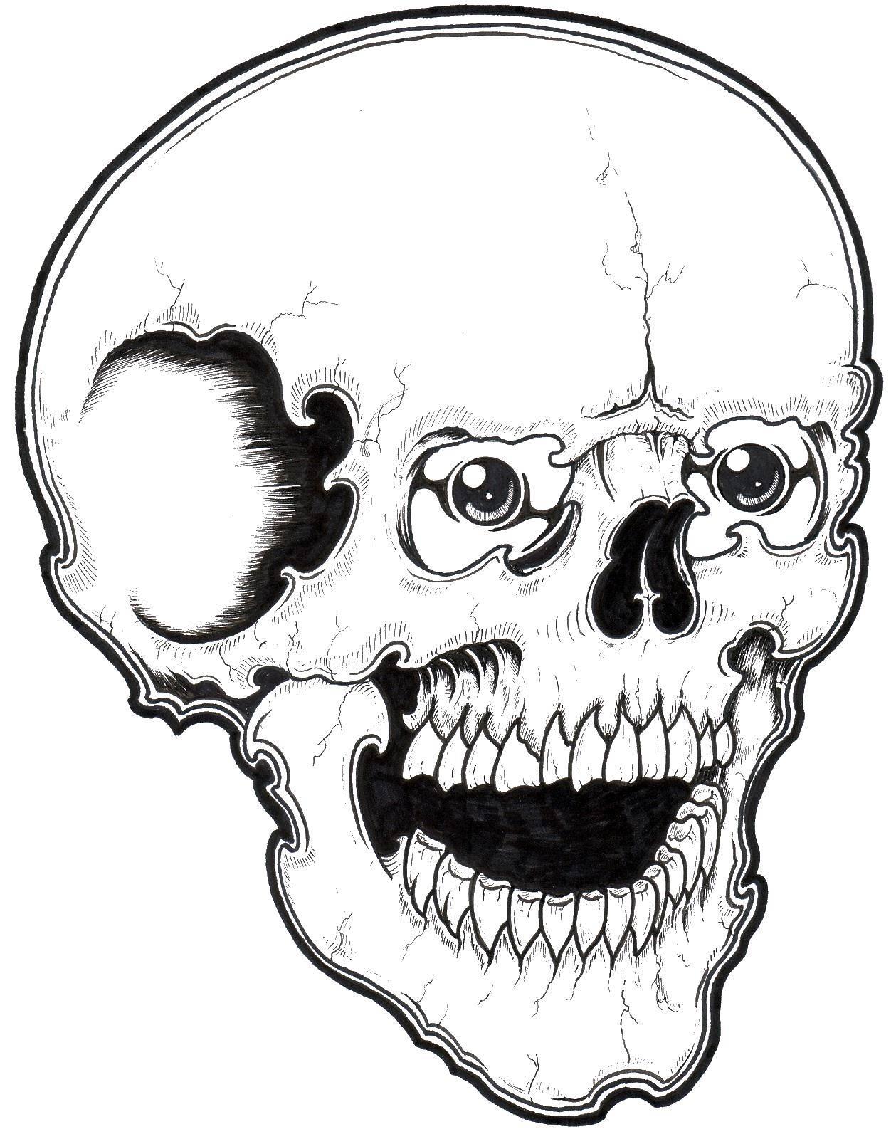 Раскраски Раскраска Череп с замком череп, скачать ...