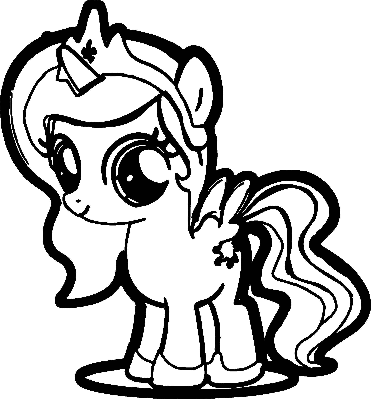 Раскраска Принцесса селестия мини Скачать ,принцессы, мини, пони,.  Распечатать