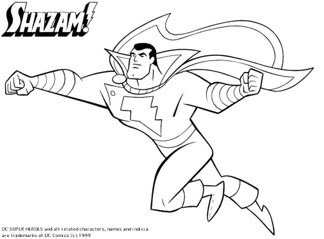 Coloring Shazam Download ,superheroes, Shazam,.  Print