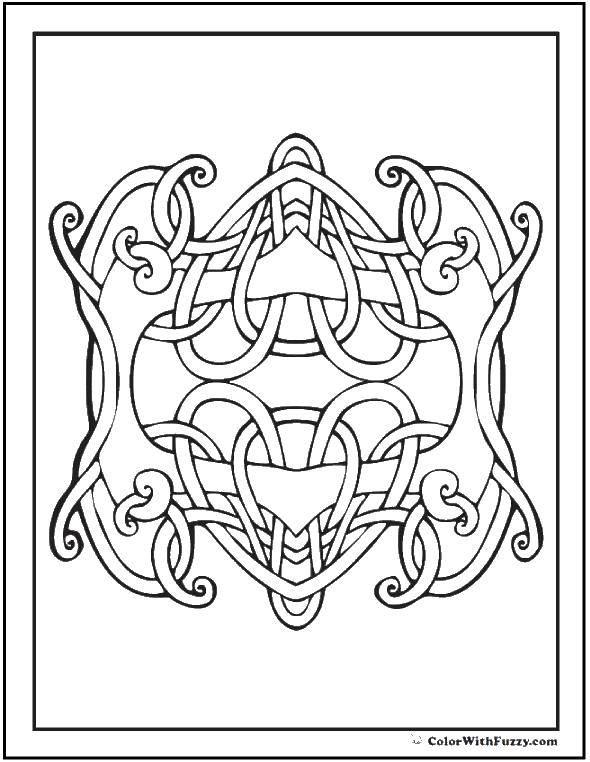 Раскраски узоров, Раскраска Лев из узоров узоры.