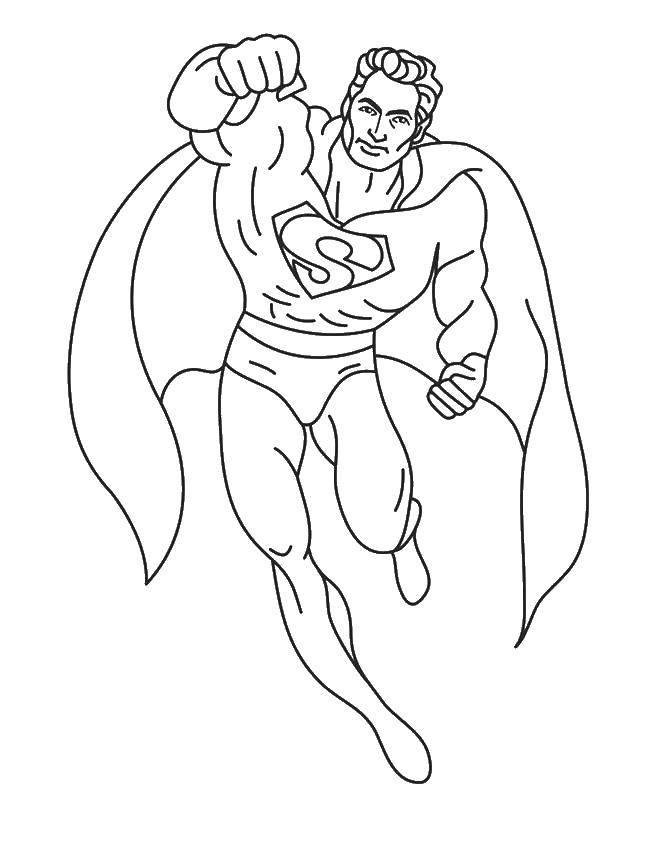 Coloring Superman. Download ,superheroes, Superman,.  Print