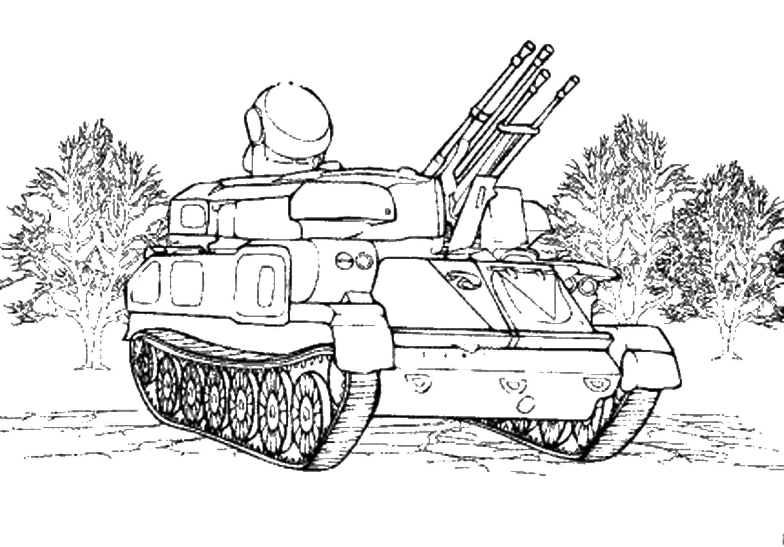 Картинки для раскраски военная техника распечатать