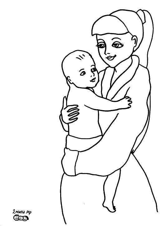 Online Coloring Pages Coloring Page A Mother And Her Child Mother And Child Coloring Pages For Kids
