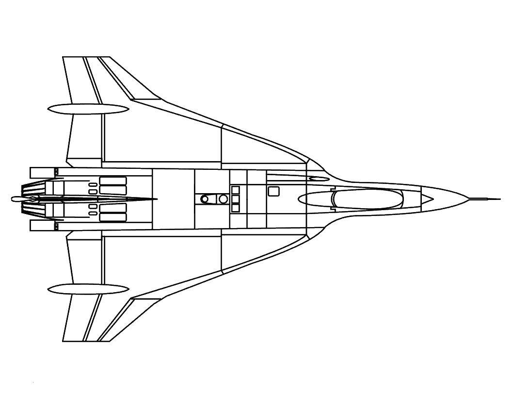 Coloring Rocket. Category rockets. Tags:  missiles, aircraft, sky.