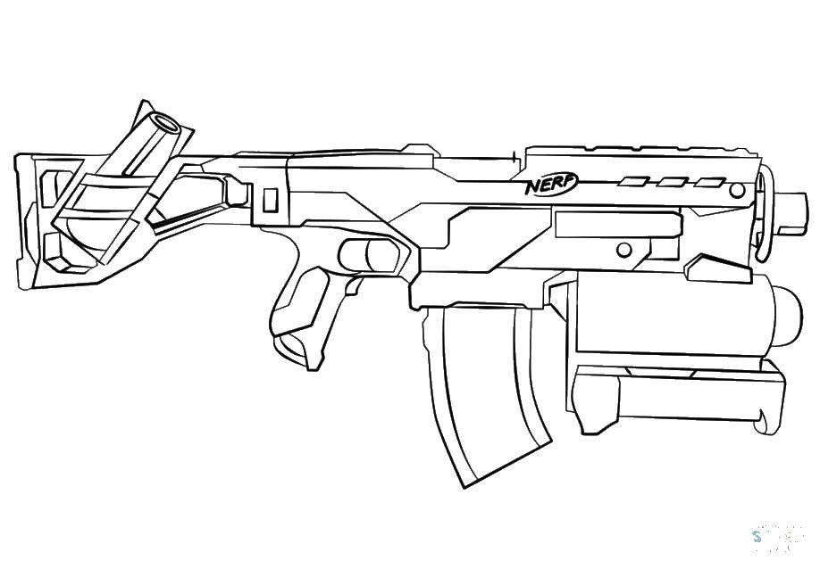 Раскраска оружие Скачать ,автомат, оружие,.  Распечатать