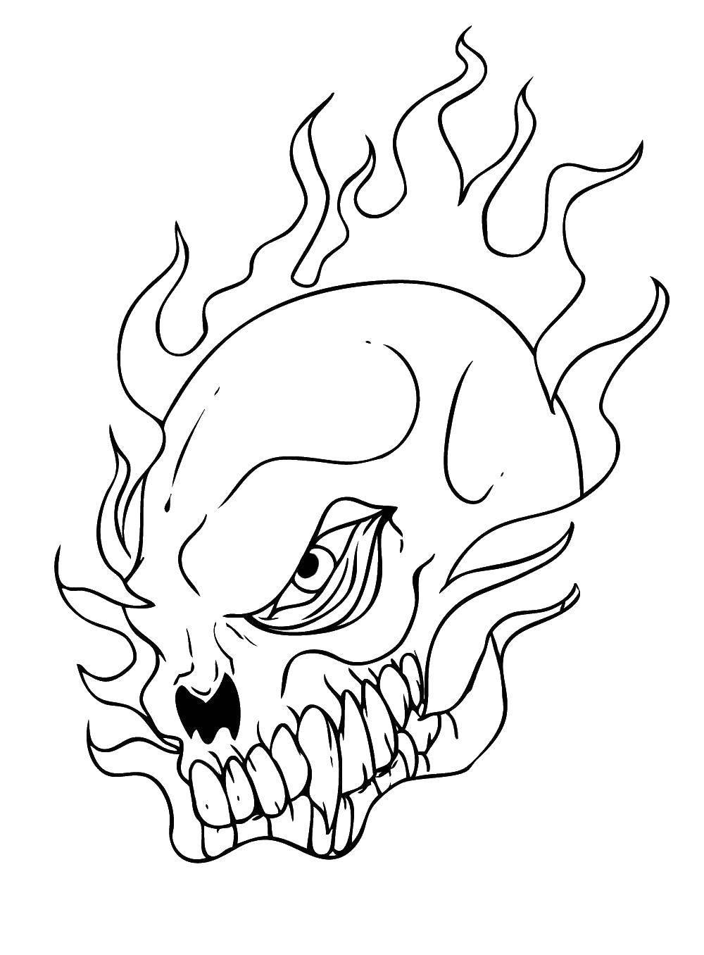 Coloring sheet skull Download ,Disney, Mickey Mouse,.  Print