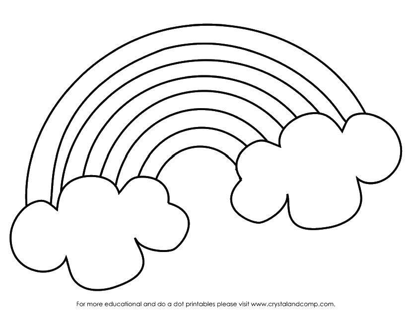 Coloring sheet Rainbow Download .  Print