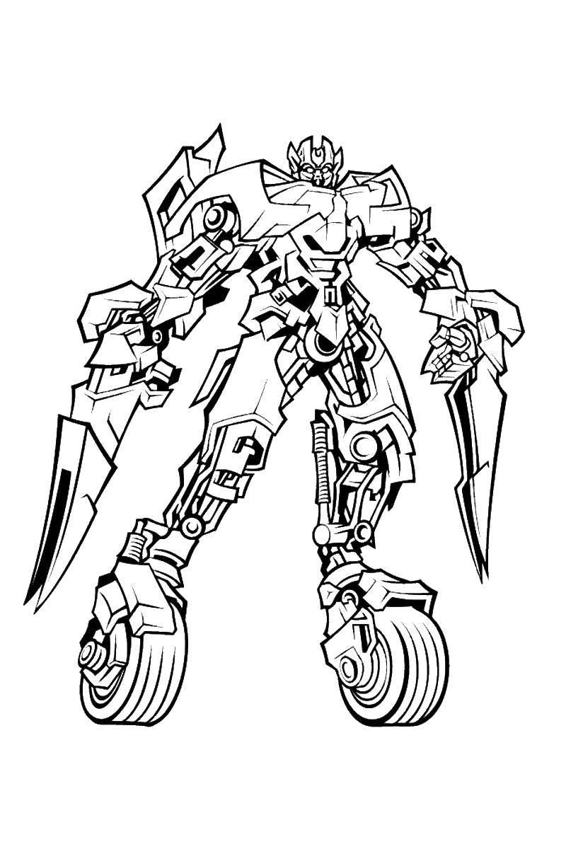 Coloring The me on the wheels Download ,transformers, Autobots,.  Print