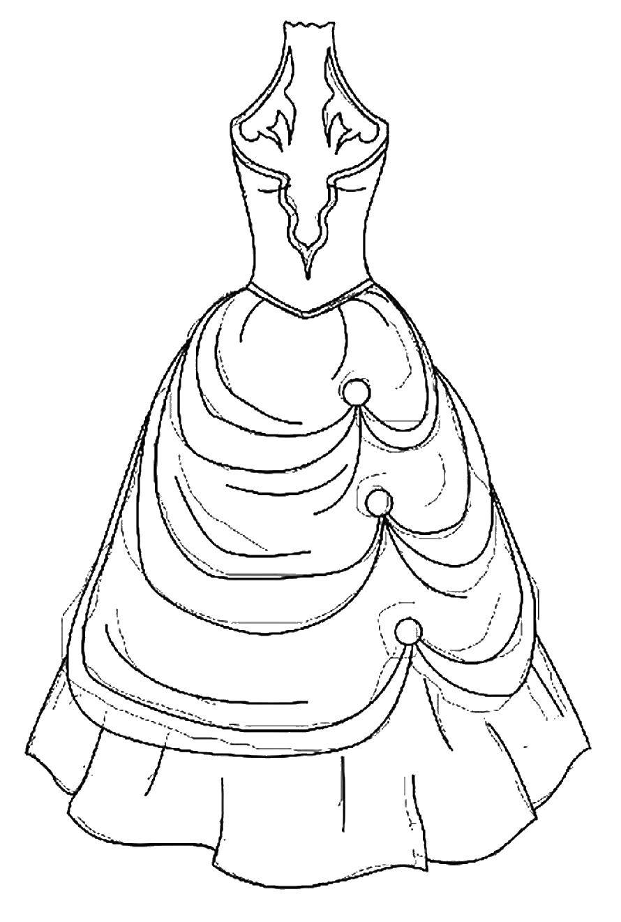 Online Coloring Pages Coloring Page Ball Gown Fashion Dresses Coloring Books For Children