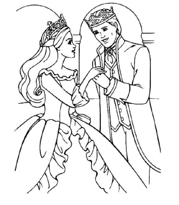 Coloring Prince and Princess Download Prince, Princess, wedding,.  Print