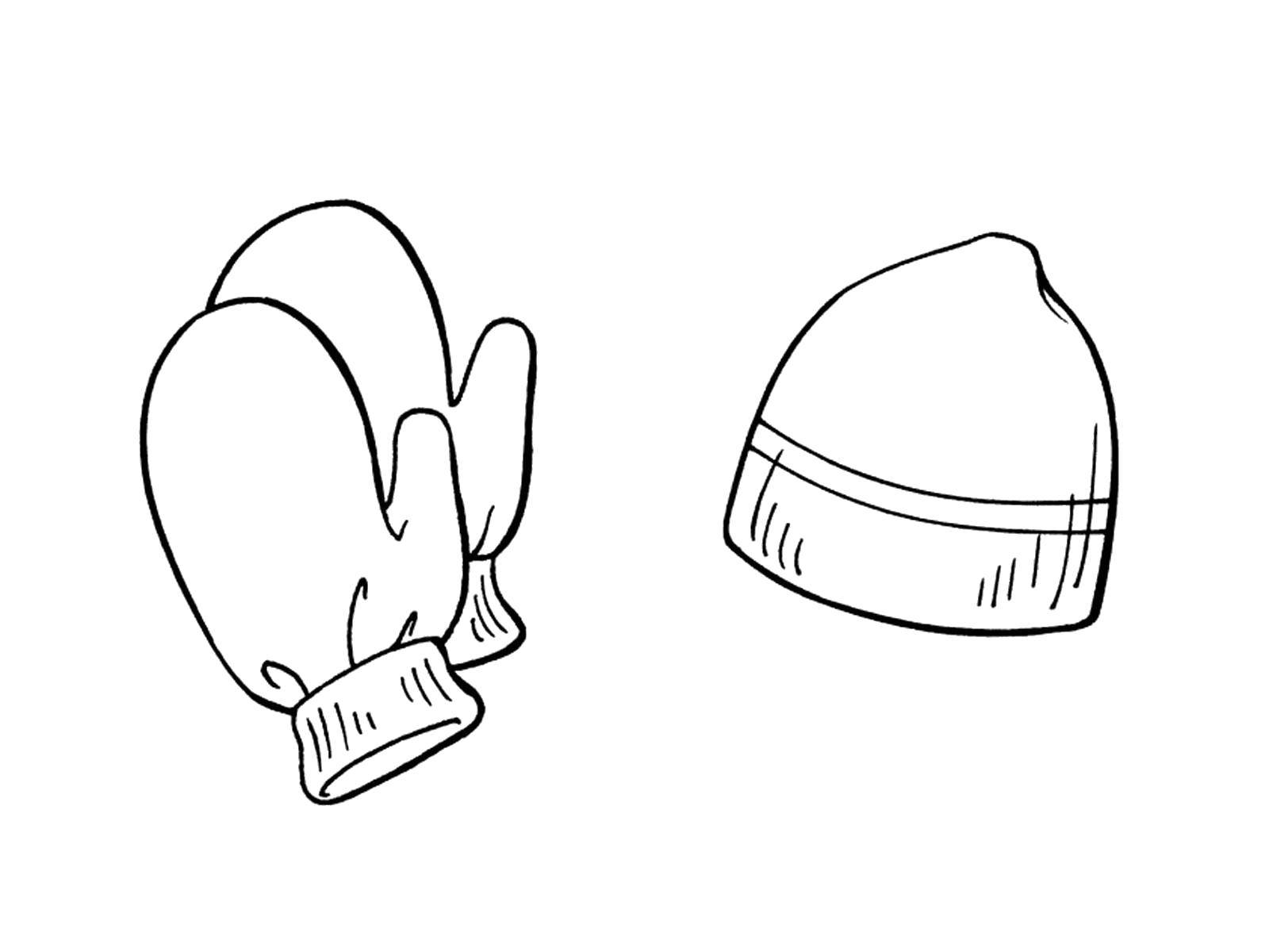 Mitten Coloring Pages - GetColoringPages.com | 1200x1600