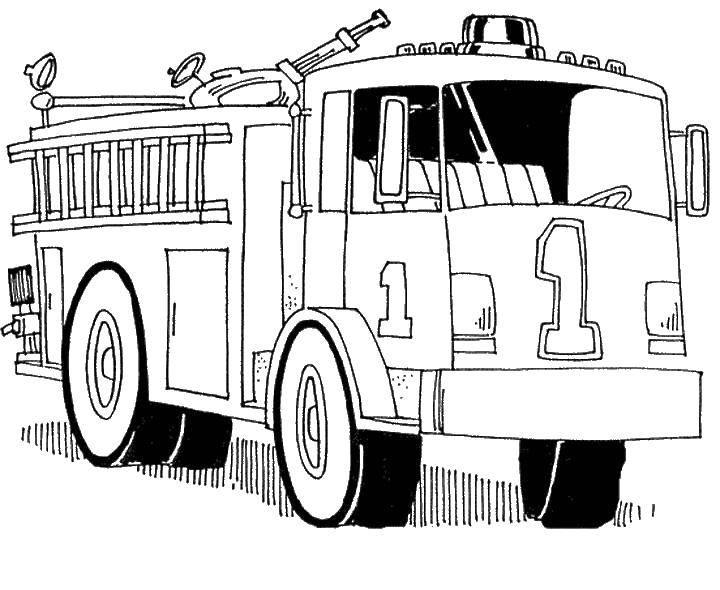 рисунки пожарных машин и пожарников если своими руками