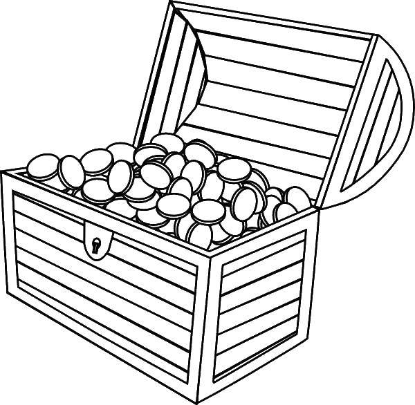 Coloring sheet the treasure chest Download flowers, roses, plants.  Print ,Flowers,