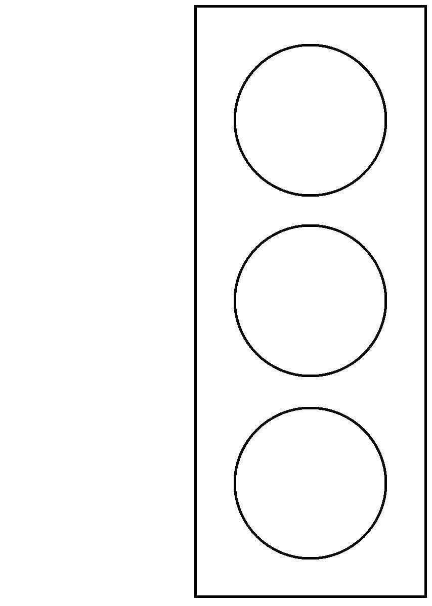 Аппликация картинки светофора для