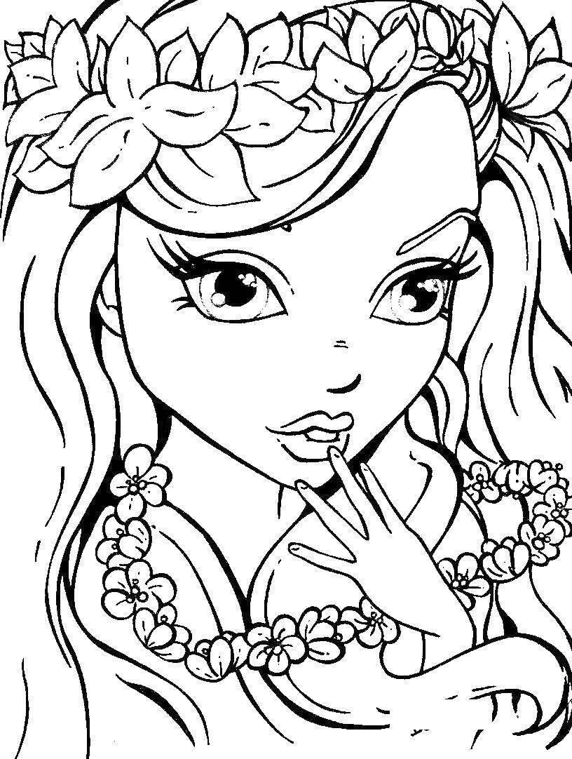 Раскраски Раскраска Леди с зонтом девушка, Раскраски ...