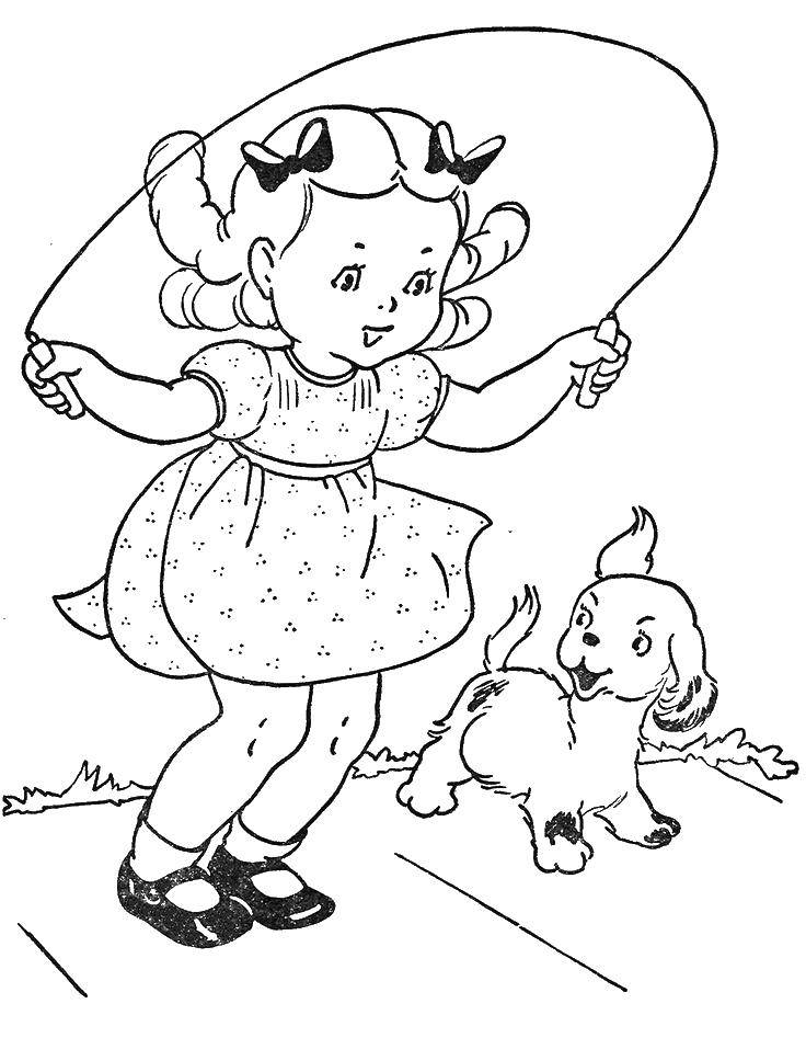 Girl Playing Jump Rope Coloring Page • FREE Printable PDF from ... | 947x736