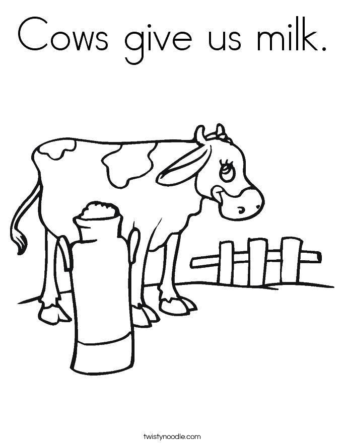 Coloring sheet Milk Download .  Print