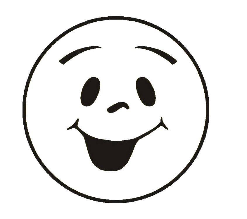 Картинки раскраска улыбка